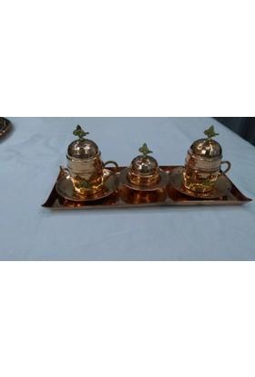 Gazi Hediyelik Kahve seti(Dövme bakır,iki kişilik)