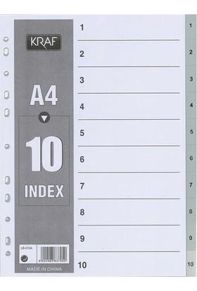 Kraf 1010 Separatör 1-10 Rakam 10'lu Ekonomik Paket