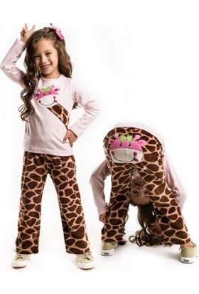 Denokids Zürafa Kadife Kız Takım