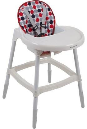 Norfolk Muju Muju Baby Dinner Pratik Mama Sandalyesi Desenli Kırmızı