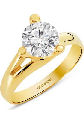 Goldstore 14 Ayar Altın Tek Taş Yüzük Grs7845 30
