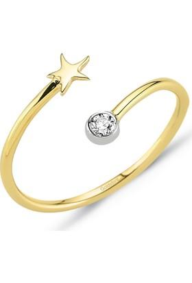 Goldstore 14 Ayar Altın Deniz Yıldızı Yüzük Grf40207 30