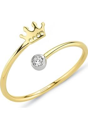 Goldstore 14 Ayar Altın Kral Tacı Yüzük Grf40213 30