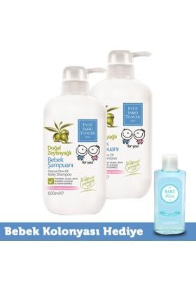 Eyüp Sabri Tuncer Zeytinyağlı Bebek Şampuanı 600 ml x 2 Adet + Mavi Bebek Kolonyası