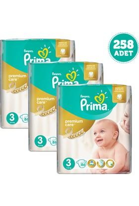Prima Bebek Bezi Premium Care Dev Ekonomi Paketi 3 Beden 3 Adet