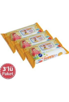 Happy Sweet Islak Mendil 80'li Pkt x 3 Adet