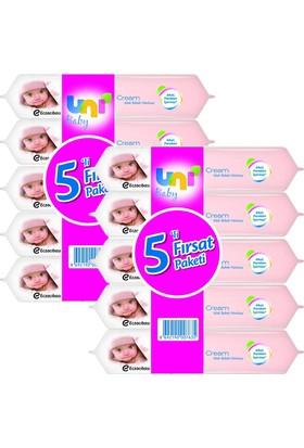 Uni Baby Cream Islak Havlu 5'li x 2 Adet