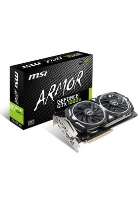 MSI NVIDIA GeForce GTX 1080 Ti ARMOR 11G OC 11GB 352 bit GDDR5X DX(12) PCI-E 3.0 Ekran Kartı (GTX 1080 Ti ARMOR 11G OC)
