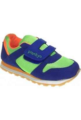 Pinokyo 2104 Çocuk Spor Ayakkabı Saks Mavi