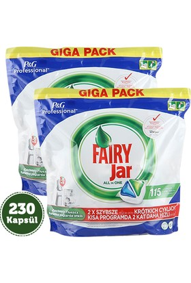 Fairy Jar Hepsi Bir Arada Kapsül 115'li (P&G Professional) x 2 Adet