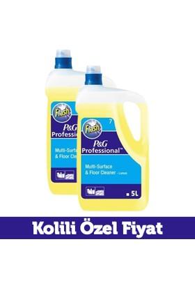 Flash Yüzey ve Yer Temizleyici Limon No:7 5 lt (P&G Professional) x 2 Adet