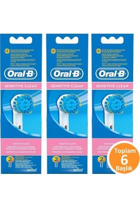 Oral-B EBS17 Sensitive Clean Diş Fırçası Yedeği 2'li x 3 Adet