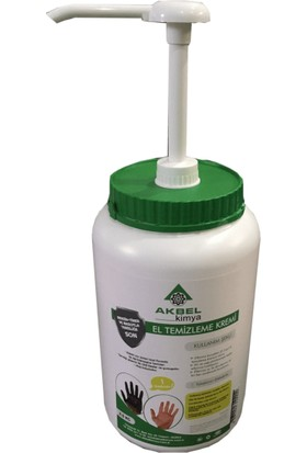Akbel Kimya Endüstriyel El Temizleme Kremi 2.5 Kg. (Pompa Aparatlı)