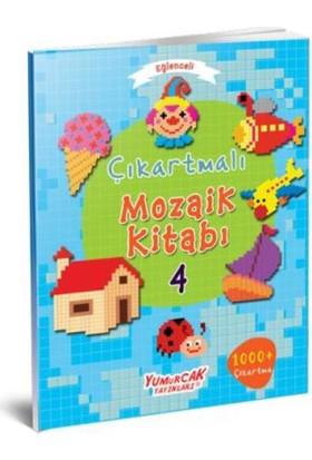 Eğlenceli Çıkartmalı Mozaik Kitabı 4 Kitap Set