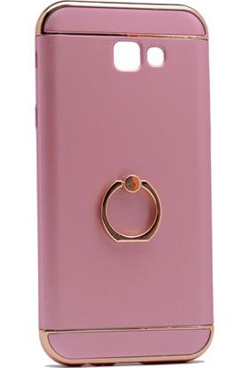 Case 4U Samsung Galaxy A5 2017 Yüzüklü Sert Arka Kapak Rose Gold