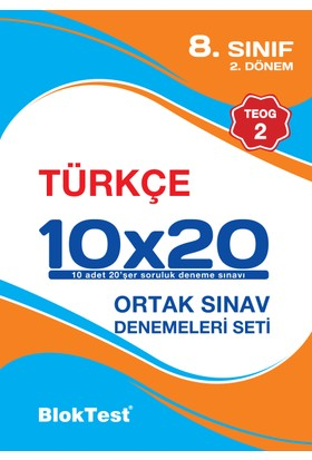Bloktest 8.Sınıf 2.Teog Türkçe 10 Deneme Yeni