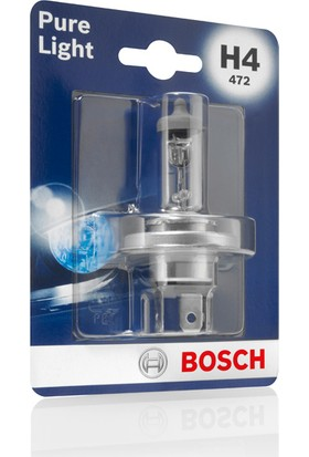 Bosch H4 Pure Light Kısa/Uzun Far Ampulu Hyundai i20 (2009-2017)