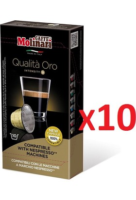Caffè Molinari 100 x Qualita Oro Nespresso® Uyumlu Kapsül Kahve