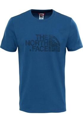 The North Face Woodcut Dome Erkek T-Shirt Mavi
