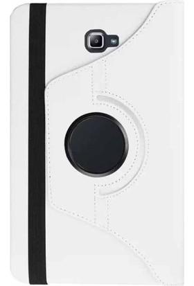 CaseUp Samsung Galaxy Tab A 10.1'' P580 Kılıf, CaseUp Dönerli Standlı +Kırılmaz Cam