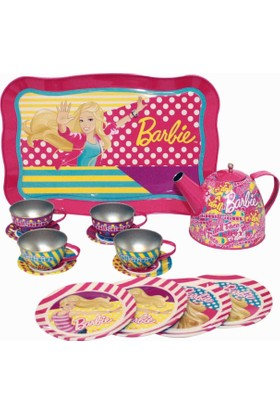 Barbie'nin Tepsili Metal Çay Seti