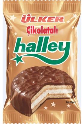 Ülker Halley Çikolata Kaplı Bisküvi 30 gr x 24 Adet