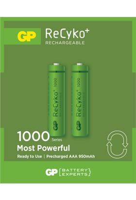 GP 2'li ReCyko 1000 Serisi NiMH AAA İnce Kalem Boy Şarjlı Pil(GP100AAAHCEMTR-2GB2)