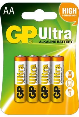 GP Ultra Alkalin 4'lü AA Boy Kalem Pil (GP15AU-2U4)