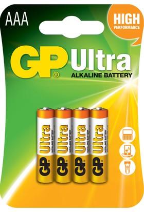 GP Ultra Alkalin 4'lü AAA Boy İnce Pil (GP24AU-2U4)
