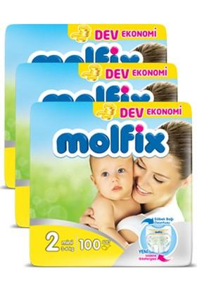 Molfix Bebek Bezi Comfort Fix Mini Dev Ekonomi 2 Beden 300 Adet