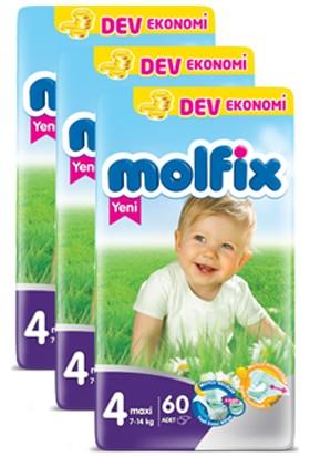 Molfix Bebek Bezi Comfort Fix Maxi Dev Ekonomi 4 Beden 180 Adet