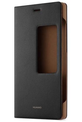Huawei P8 Kapaklı Kılıf Flip Cover - Siyah