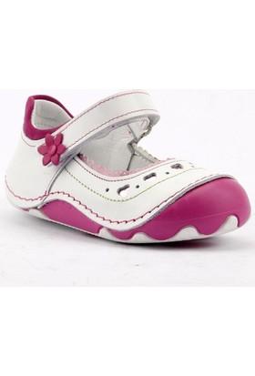 Teo Bebe 4100 %100 Deri Ortopedik Cırtlı Kız Çocuk Ayakkabı