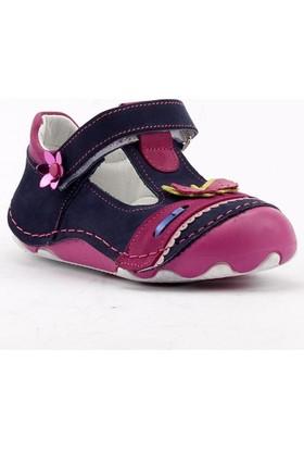 Teo Bebe 4300 %100 Deri Ortopedik Cırtlı Kız Çocuk Ayakkabı