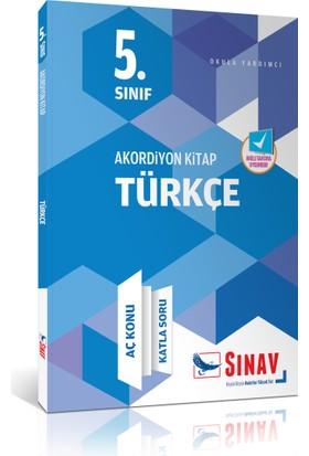 Sınav 5. Sınıf Türkçe Akordiyon Kitap