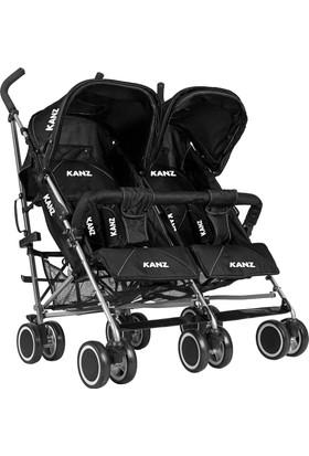 Kanz KZ5006 Carriage İkiz Bebek Arabası Siyah