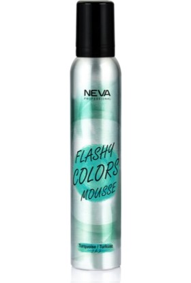 Neva Flashy Colors Renkli Köpük 200 ml Turkuaz