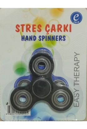 Kırtasiyebank Süper Hızlı Stres Çarkı Hand Spinners Round Siyah