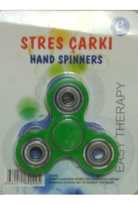 Kırtasiyebank Süper Hızlı Stres Çarkı Hand Spinners Round Yeşil