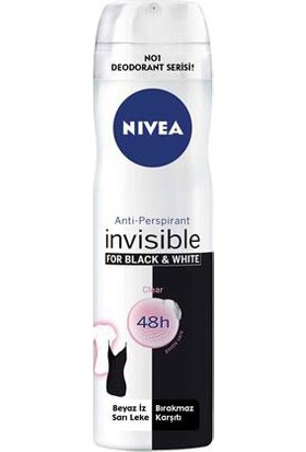 Nivea Invısıble Black&Whıte Clear Sprey 150Ml Kadın