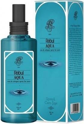 Rebul 100Ml Aqua Spreyli Cam Şişe Kolonya