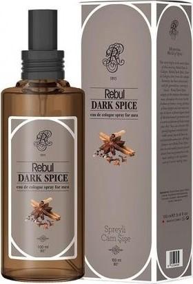 Rebul 100Ml Dark Spice Spreyli Cam Şişe Kolonya