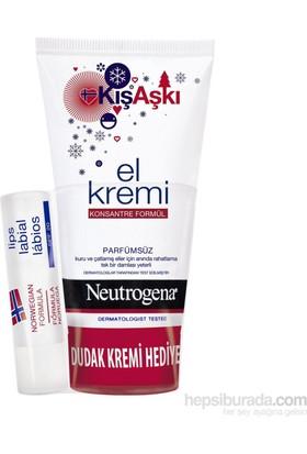 Neutrogena Parfümsüz El Kremi + Dudak Nemlendirici Hediyeli