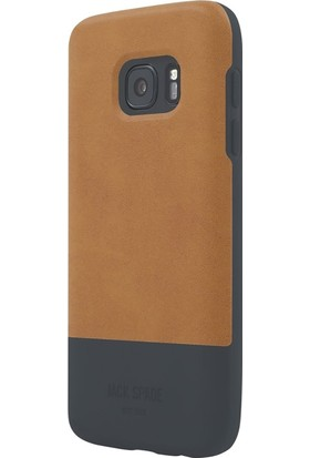 Jack Spade Samsung Galaxy S7 Arka Kapak Lacıvert- Kahve