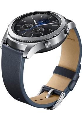 Samsung Lacivert Deri Gear S3 Kayış