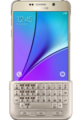Samsung Note 5 Bluetooth Klavyeli Kılıf Gold