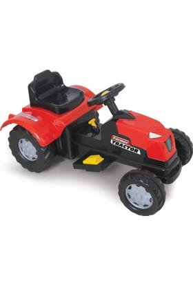 Simşek Akülü Traktör 6 Volt - Kırmızı