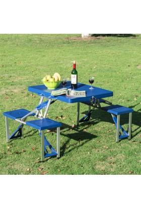 KP Katlanabilir Çanta Tipi Piknik Masası 4 Kişilik / YERLİ ÜRETİM