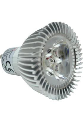 Ack 3W(3X1W) 220V Power Led Eski Tip Spot Ampul (Beyaz Işık) Gu10 Duylu