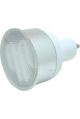 Vıto 7W Buzlu Camlı Tasarruflu Ampul (Beyaz Işık) Gu10 Duylu